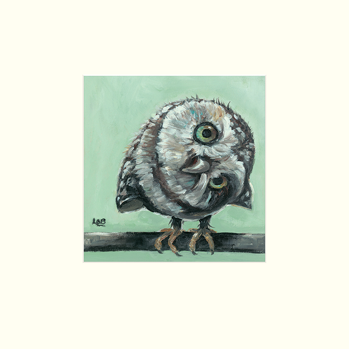 Louise Brown (Little Owl) Mounted Prints