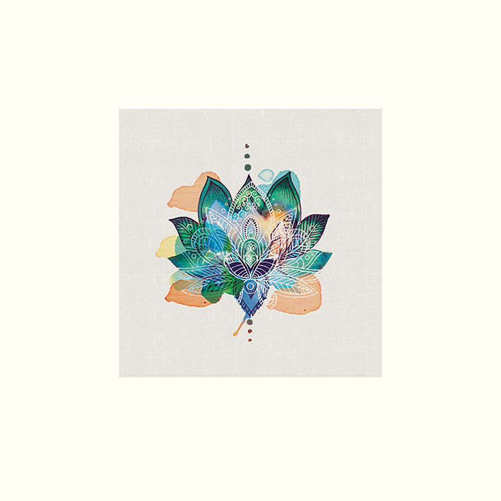 Summer Thornton (Lotus Flower) Mounted Print