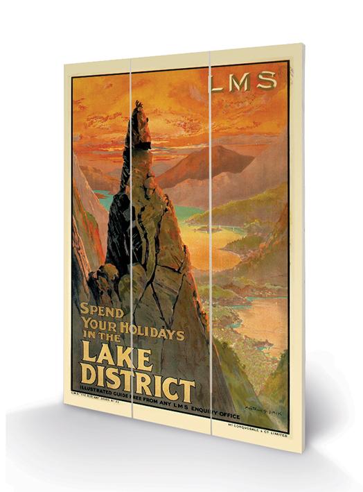 The Lake District (3) Wood Prints