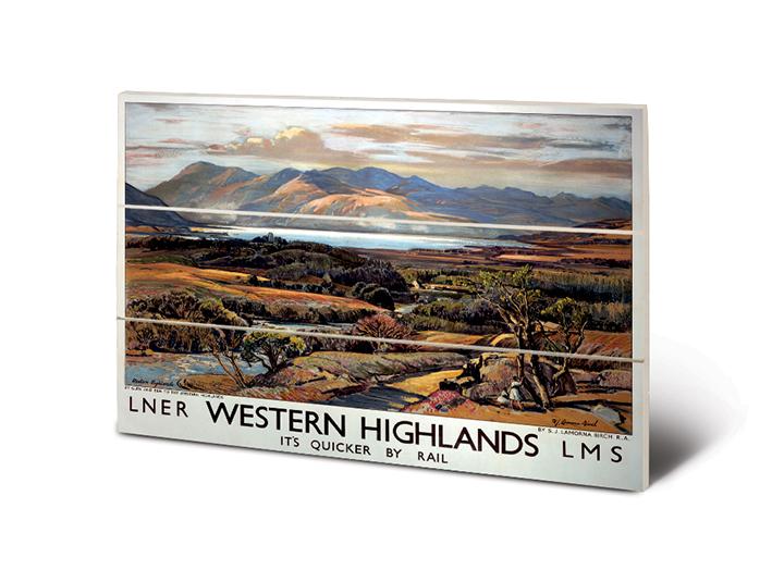 Western Highlands (2) Wood Prints