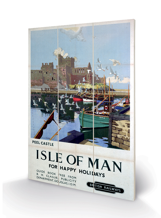 Isle of Man (Peel Castle) Wood Prints