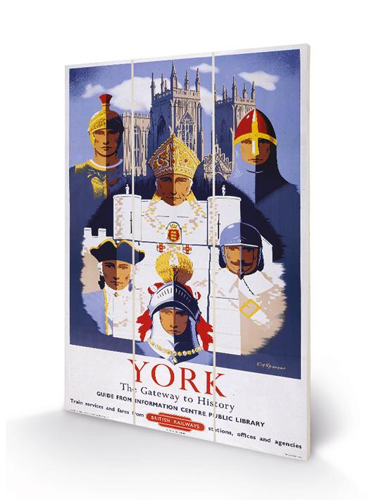 York (5) Wood Prints