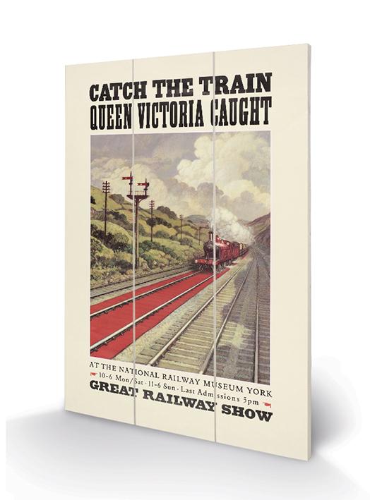 Catch the Train Wood Prints