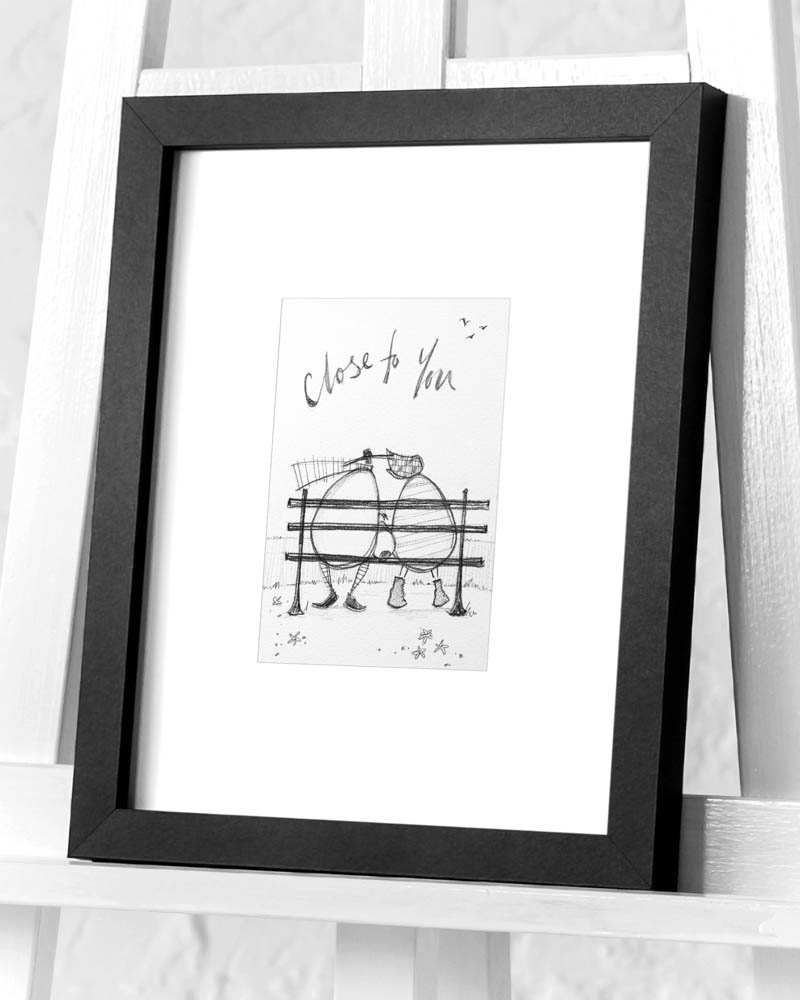 Sam Toft (Close to You sketch) Pre-Framed Art Prints