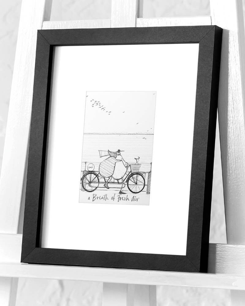 Sam Toft (A Breath of Fresh Air sketch) Pre-Framed Art Print