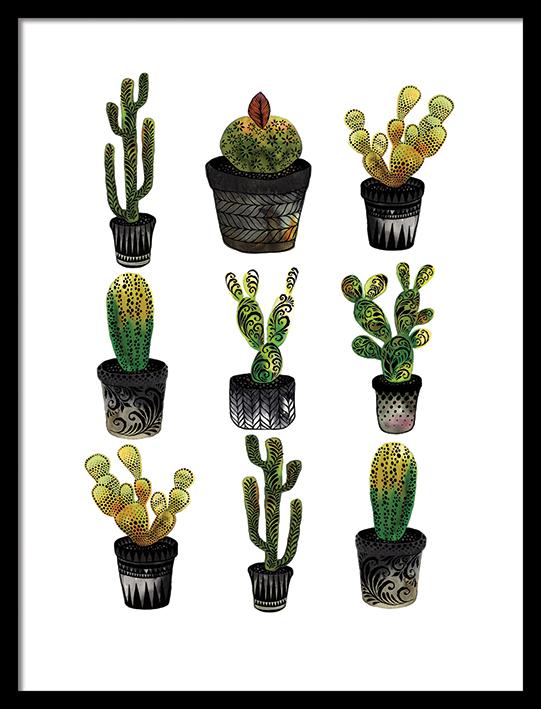 Sofie Rolfsdotter (Cacti) Pre-Framed Art Print