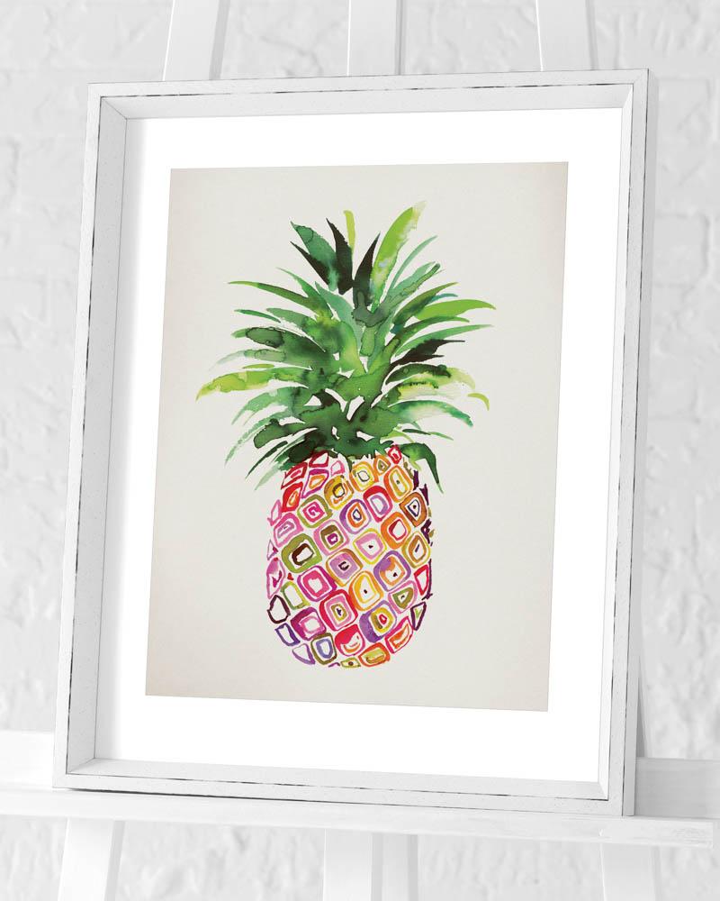 Summer Thornton (Pineapple) Pre-Framed Art Print