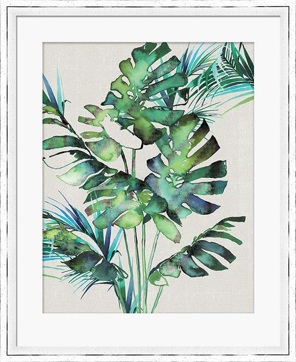 Summer Thornton (Monstera Leaves) Pre-Framed Print