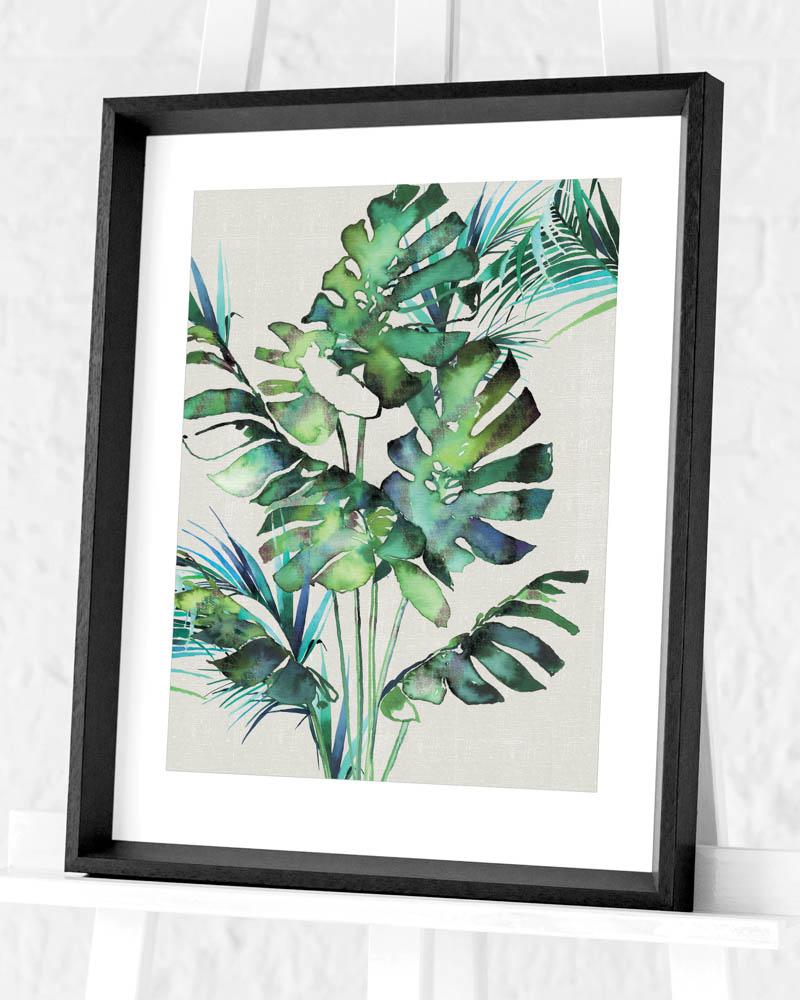 Summer Thornton (Monstera Leaves) Pre-Framed Art Prints