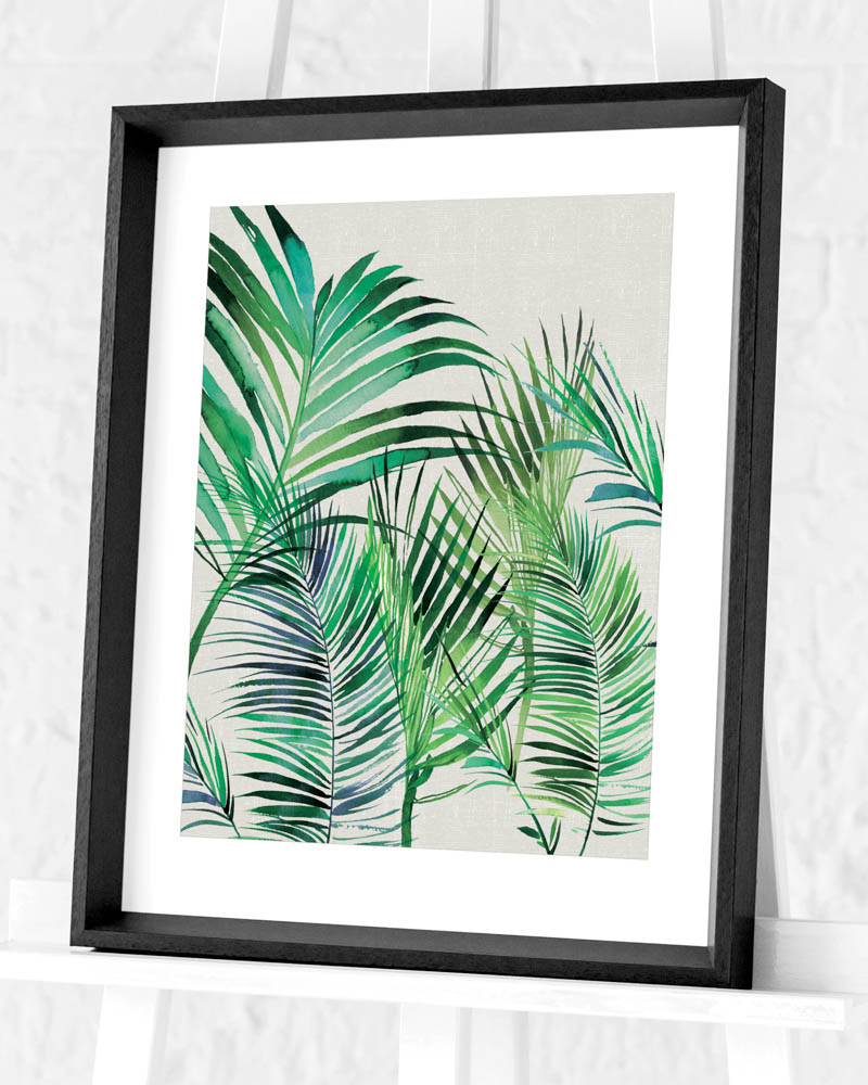 Summer Thornton (Palm Leaves) Pre-Framed Art Prints