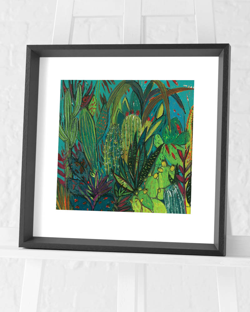 Shyama Ruffell (Cactus Jungle) Pre-Framed Art Prints
