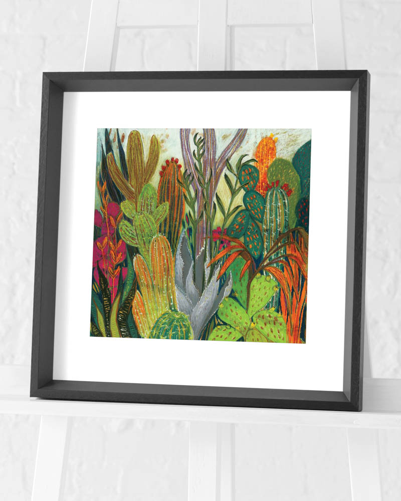 Shyama Ruffell (The Cactus) Pre-Framed Art Print