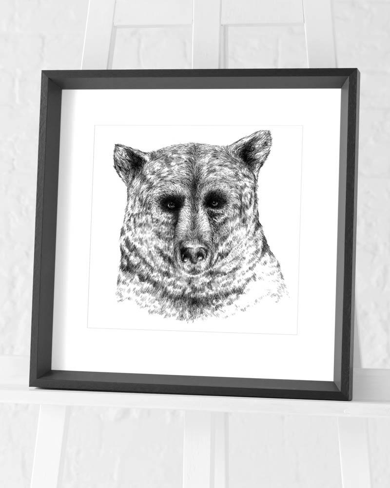 Sofie Rolfsdotter (Bear) Pre-Framed Art Prints