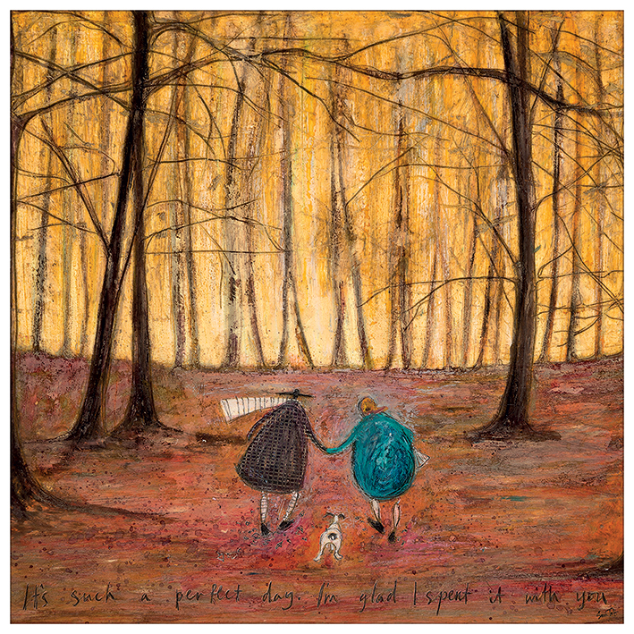 sam toft itu0027s such a perfect day iu0027m glad i spent it with you white framed canvas print