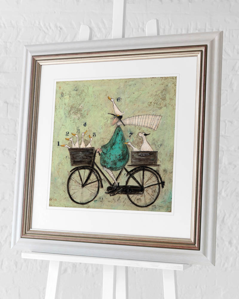 Sam Toft (All aboard the Ducky Express) Pre-Framed Art Print