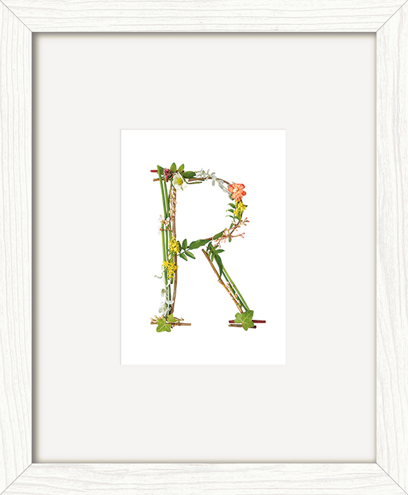 Howard Shooter (Floral R) Pre-Framed Print