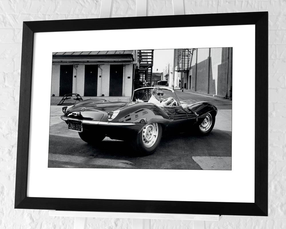 Time Life (Steve McQueen - Jaguar) Pre-Framed Art Print