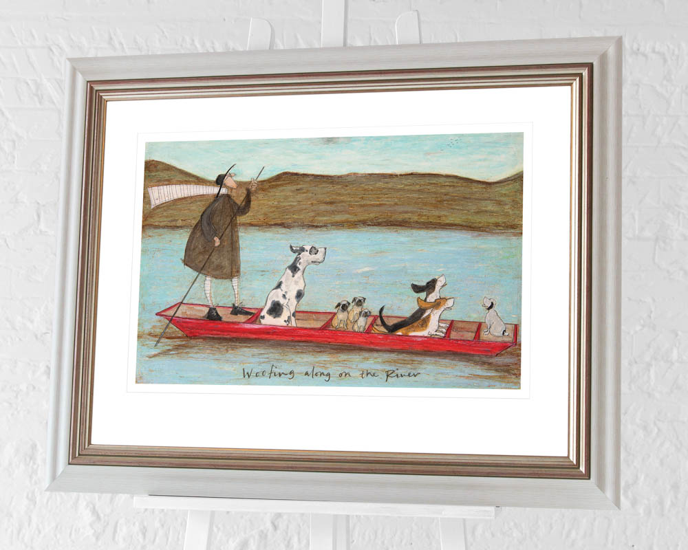 Sam Toft (Woofing along on the River) Pre-Framed Art Print