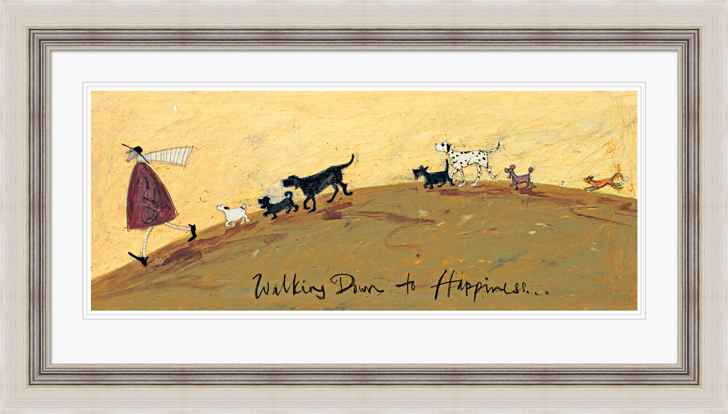 Sam Toft (Walking down to Happiness) Pre-Framed Prints