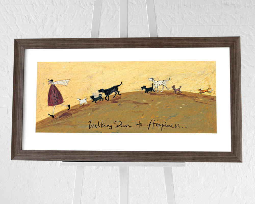 Sam Toft (Walking down to Happiness) Pre-Framed Art Prints
