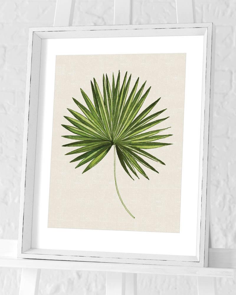 Summer Thornton (Tropical Leaf III) Pre-Framed Art Print