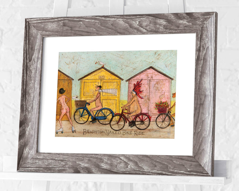 Sam Toft (Brighton Naked Bike Ride) Pre-Framed Prints
