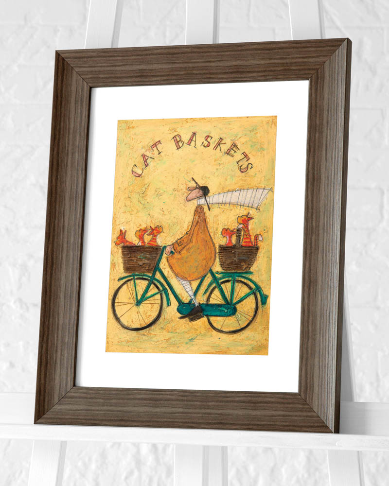Sam Toft (Cat Baskets) Pre-Framed Art Print