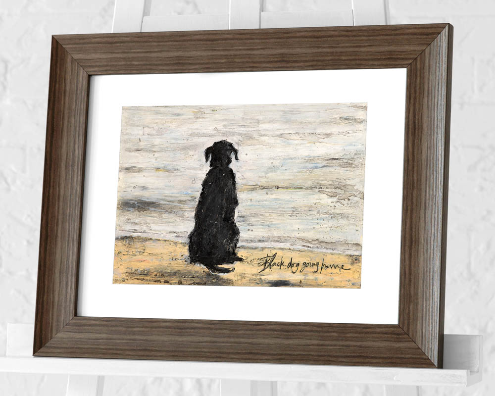Sam Toft (Black Dog Going Home) Pre-Framed Print