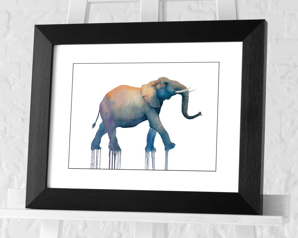 Oliver Flores (Elephant Walk) Pre-Framed Art Print