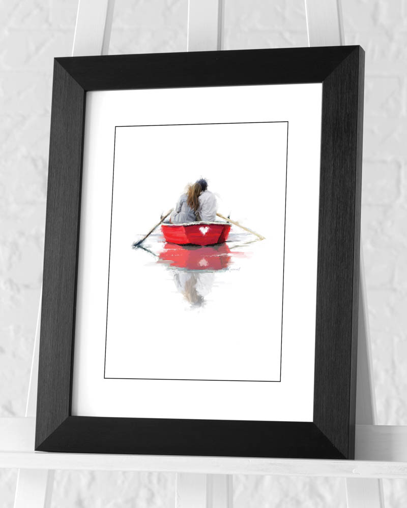 Richard Macneil (Couple in a Boat) Pre-Framed Print
