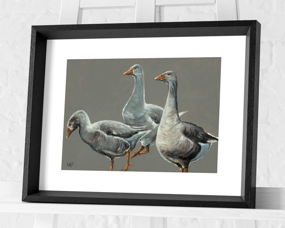Louise Brown (Having a Gander) Pre-Framed Print