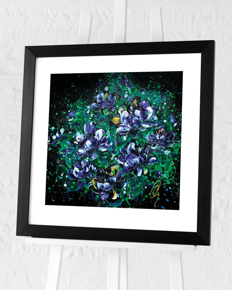 Clare Sykes (Purple Hearts) Pre-Framed Art Print