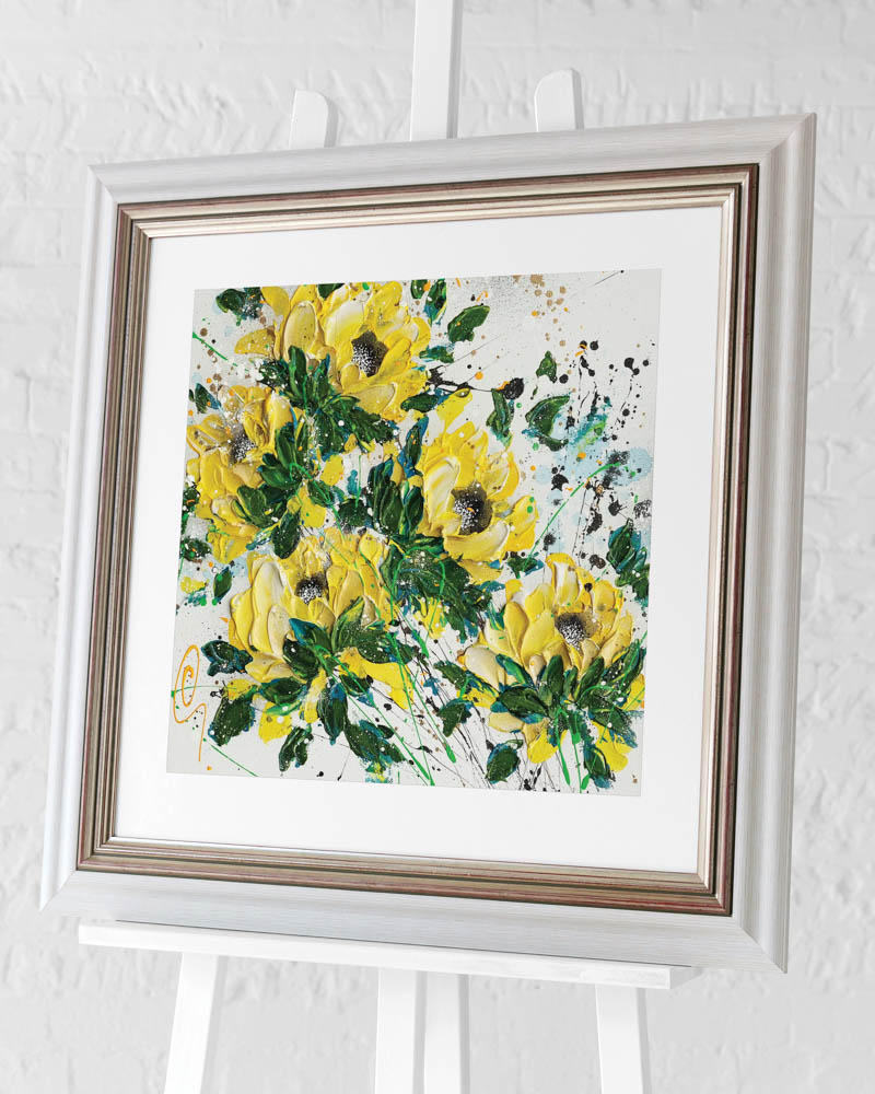 Clare Sykes (Touch of Gold) Pre-Framed Art Print