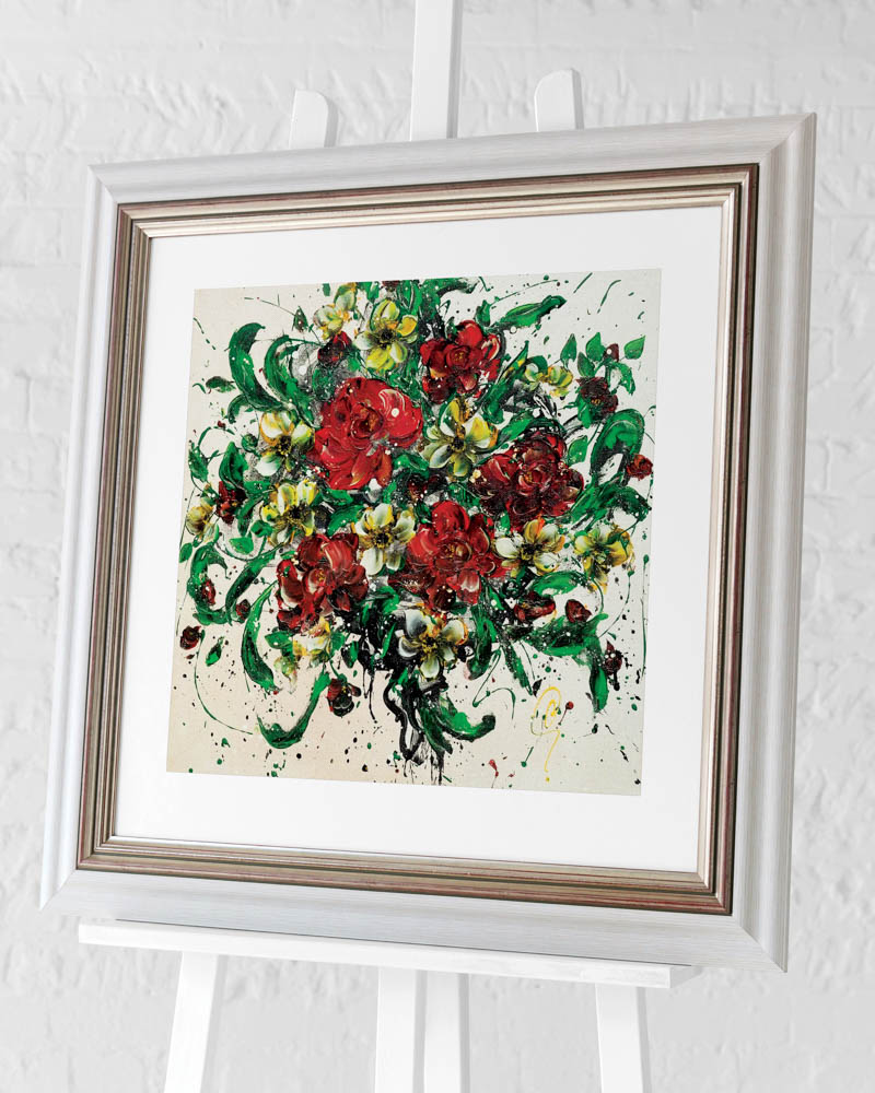 Clare Sykes (Tumbled Kisses) Pre-Framed Art Print