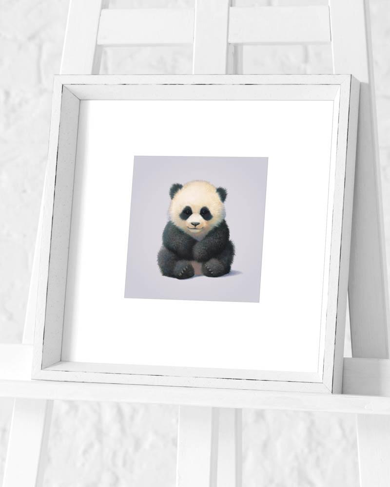 John Butler (Panda) Pre-Framed Art Print
