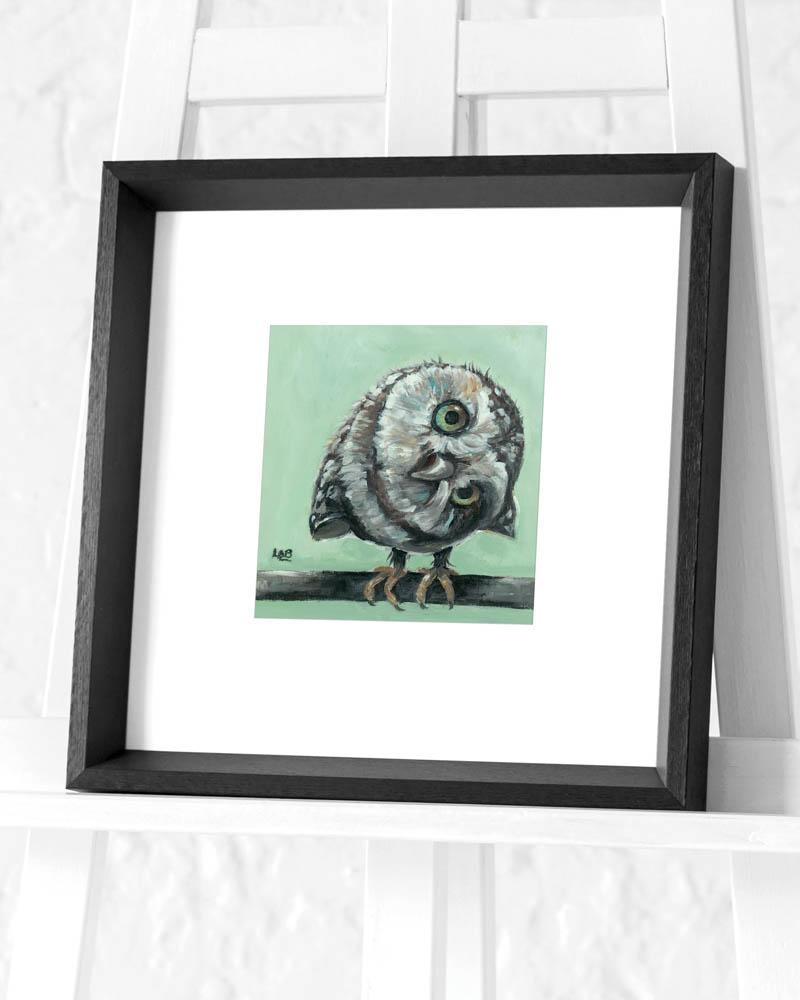 Louise Brown (Little Owl) Pre-Framed Art Print
