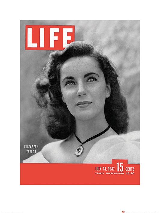 Time Life (Life Cover - Elizabeth Taylor) Art Print