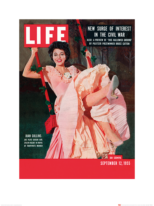 Time Life (Life Cover - Joan Collins) Art Prints