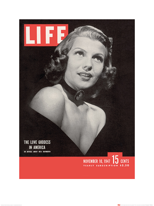 Time Life (Life Cover - Rita Hayworth) Art Prints