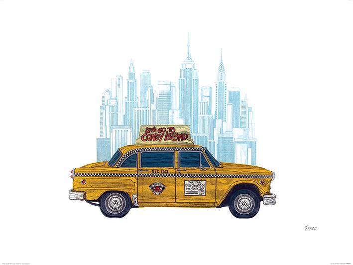 Barry Goodman (Taxi New York) Art Print
