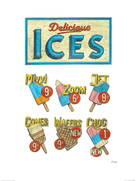 Barry Goodman (Delicious Ices) Art Prints