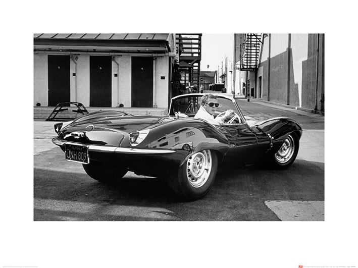 Time Life (Steve McQueen - Jaguar) Art Prints