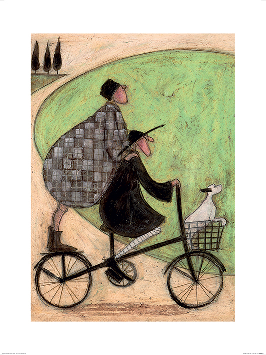 Sam Toft (Double Decker Bike) Art Print