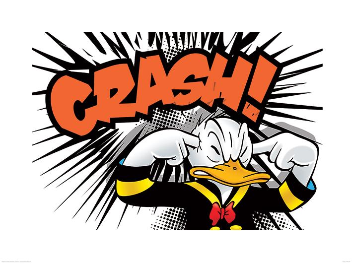 Donald Duck (Crash) Art Print