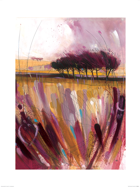 Simon Howden (Through the Bracken in Mauve) Art Prints