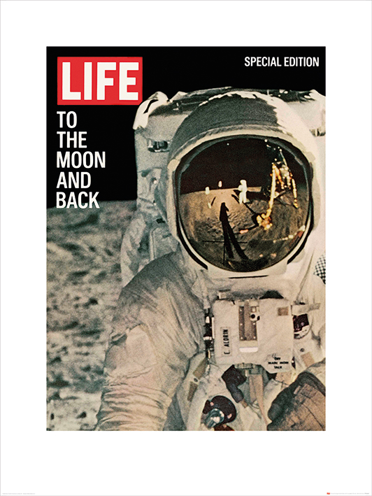 Time Life (Life Cover - To the Moon and Back) Art Print