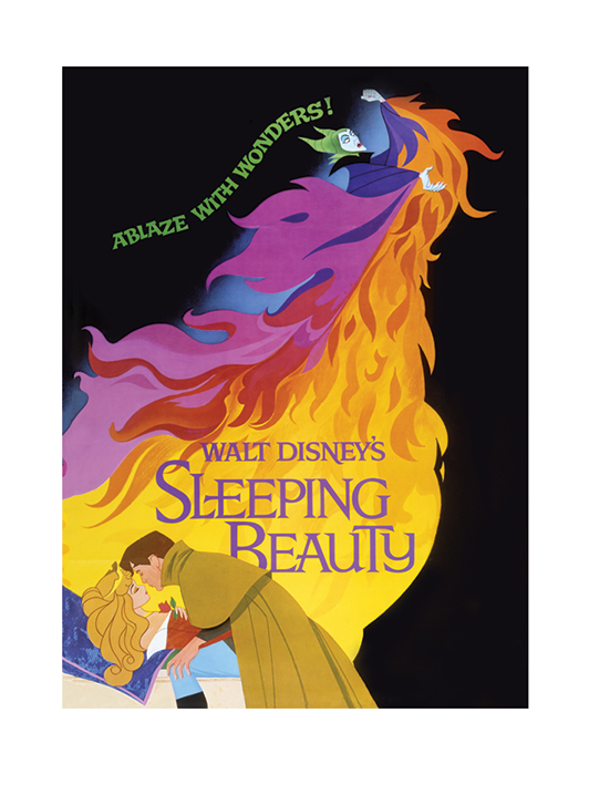 Sleeping Beauty (Ablaze) Art Prints