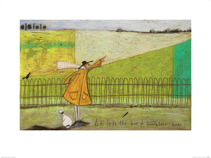 Sam Toft (Let's Take The Bus To Somewhere New) Art Print