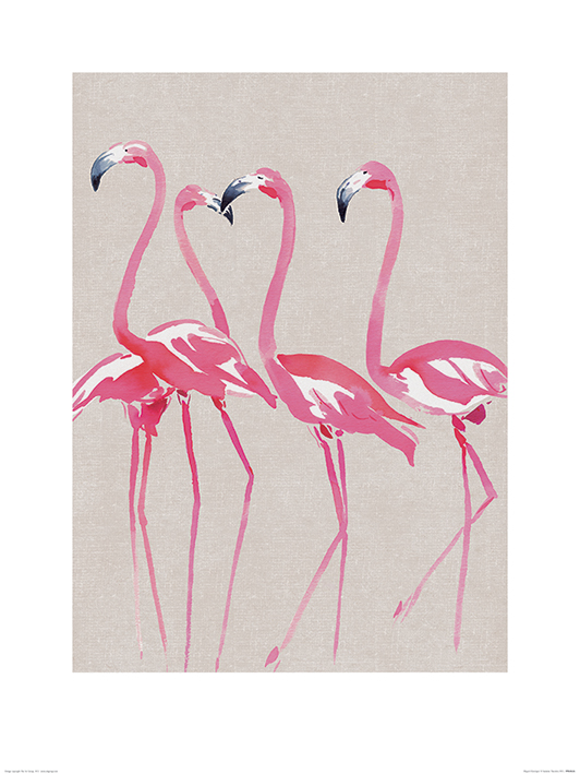 Summer Thornton (Elegant Flamingos) Art Prints