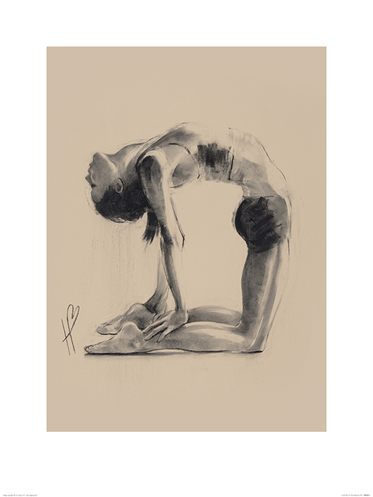 Hazel Bowman (Camel Pose) Art Prints